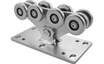 Sisteme si accesorii pentru porti autoportante CAIS ofera o gama variata de sisteme si accesorii pentru porti autoportante, montare este usoara, necesita doar turnarea unui bloc de beton pe care se prind carucioarele cu role.