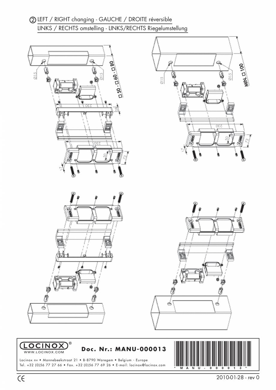 Pagina 2 - Accesorii si componente pentru porti pietonale - SE.E - SE.R LOCINOX Instructiuni montaj,...