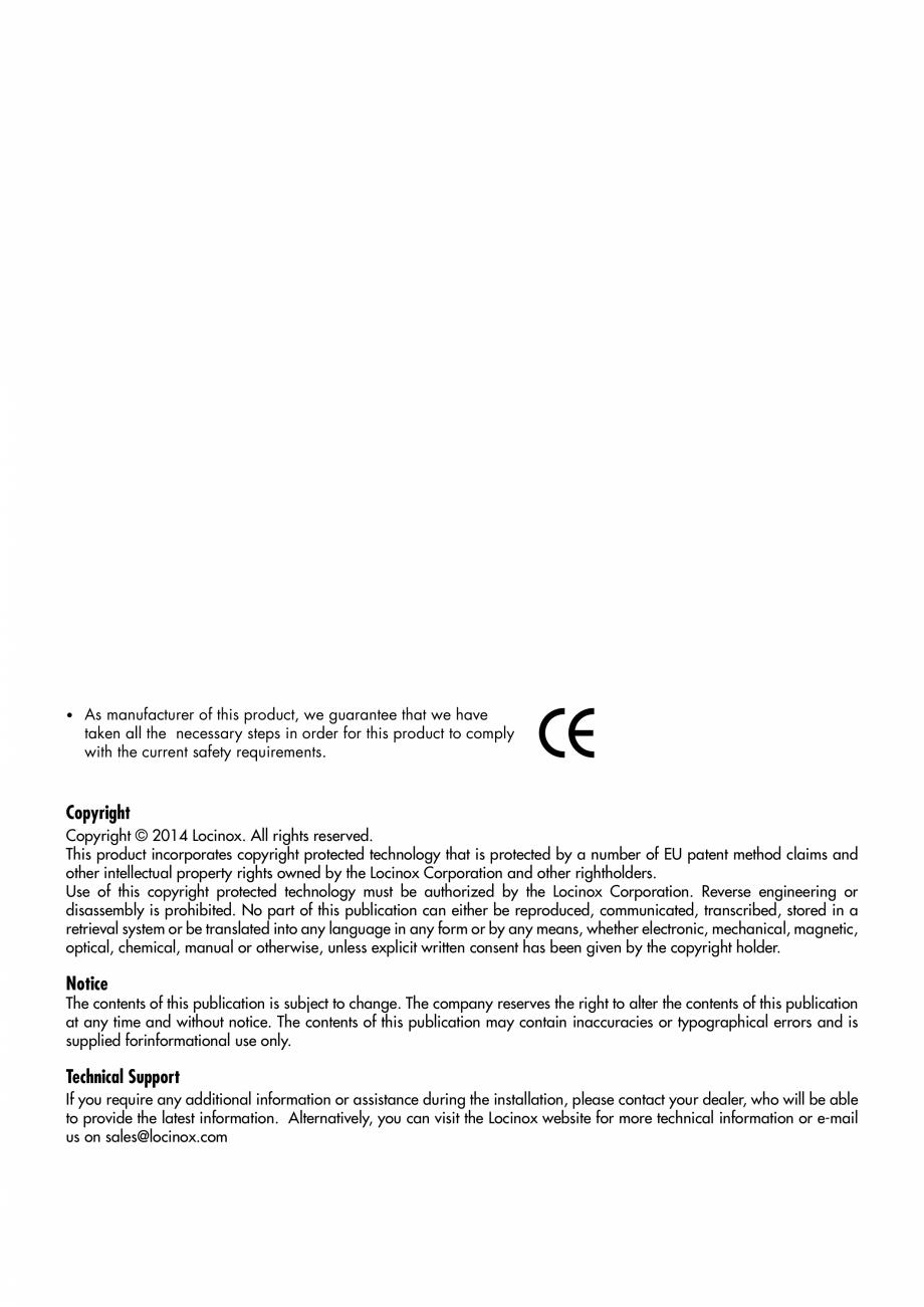 Pagina 2 - Balama pentru porti pietonale - MAMMOTH 180 LOCINOX Instructiuni montaj, utilizare...