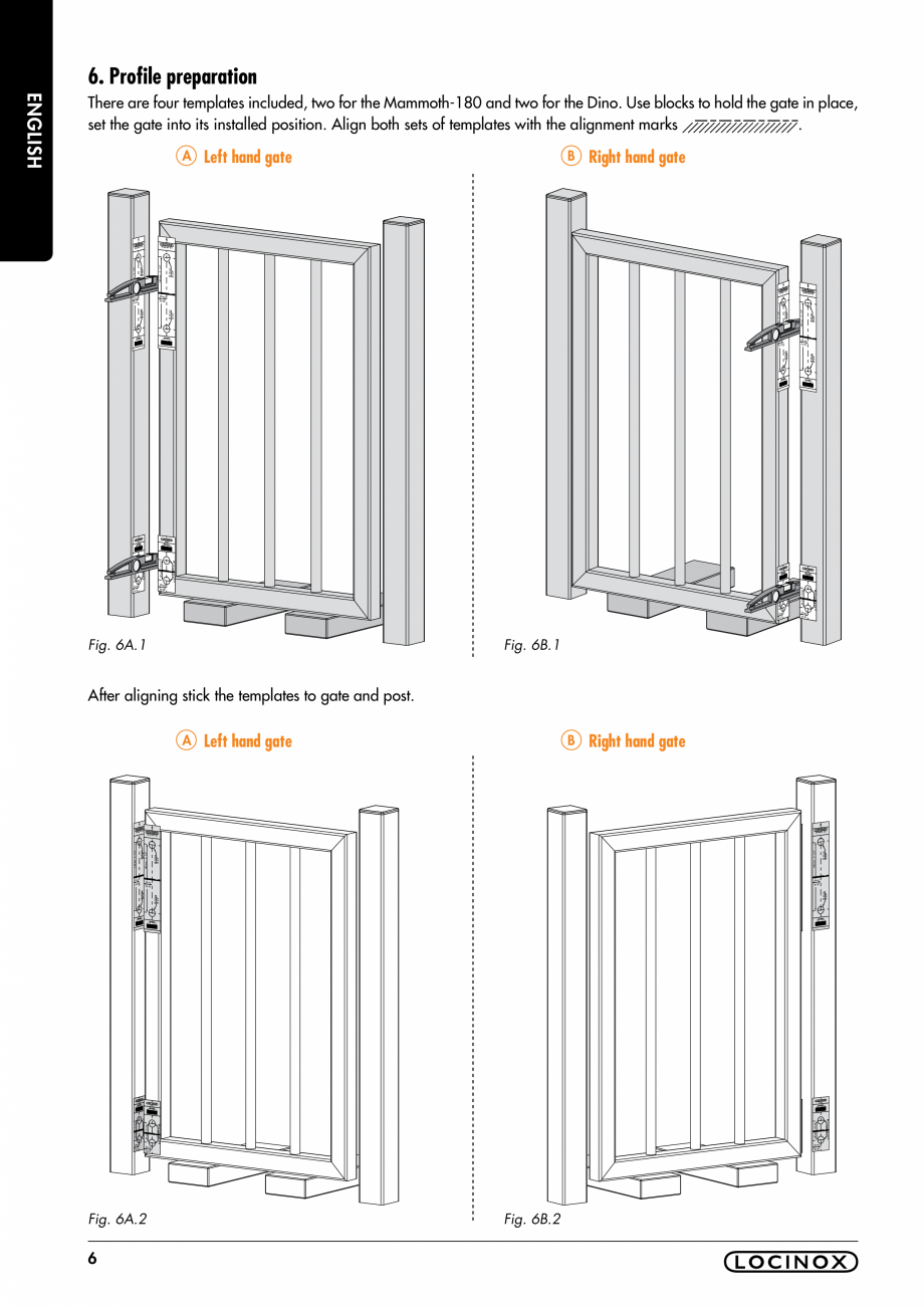 Pagina 6 - Balama pentru porti pietonale - MAMMOTH 180 LOCINOX Instructiuni montaj, utilizare...