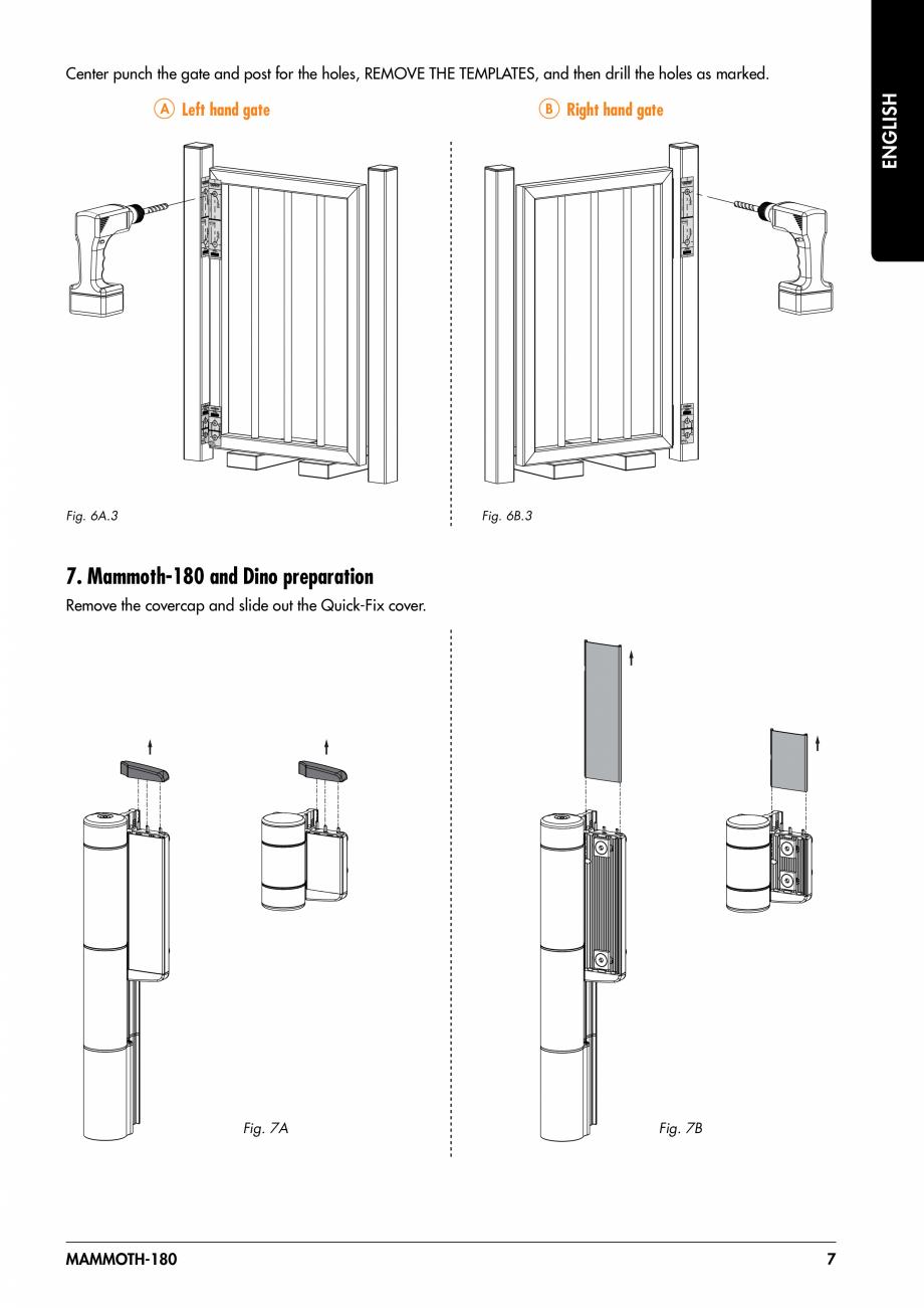Pagina 7 - Balama pentru porti pietonale - MAMMOTH 180 LOCINOX Instructiuni montaj, utilizare...