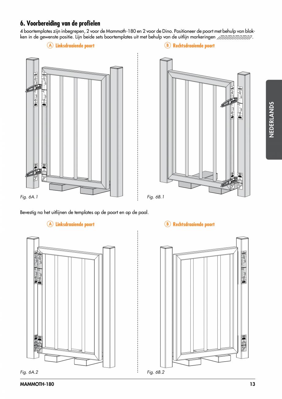 Pagina 13 - Balama pentru porti pietonale - MAMMOTH 180 LOCINOX Instructiuni montaj, utilizare...