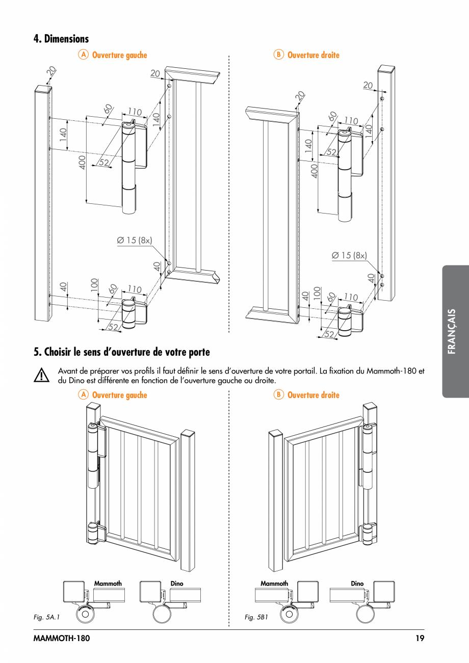 Pagina 19 - Balama pentru porti pietonale - MAMMOTH 180 LOCINOX Instructiuni montaj, utilizare...