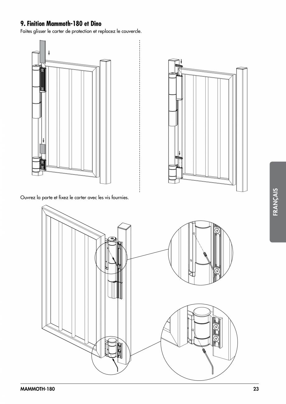 Pagina 23 - Balama pentru porti pietonale - MAMMOTH 180 LOCINOX Instructiuni montaj, utilizare...