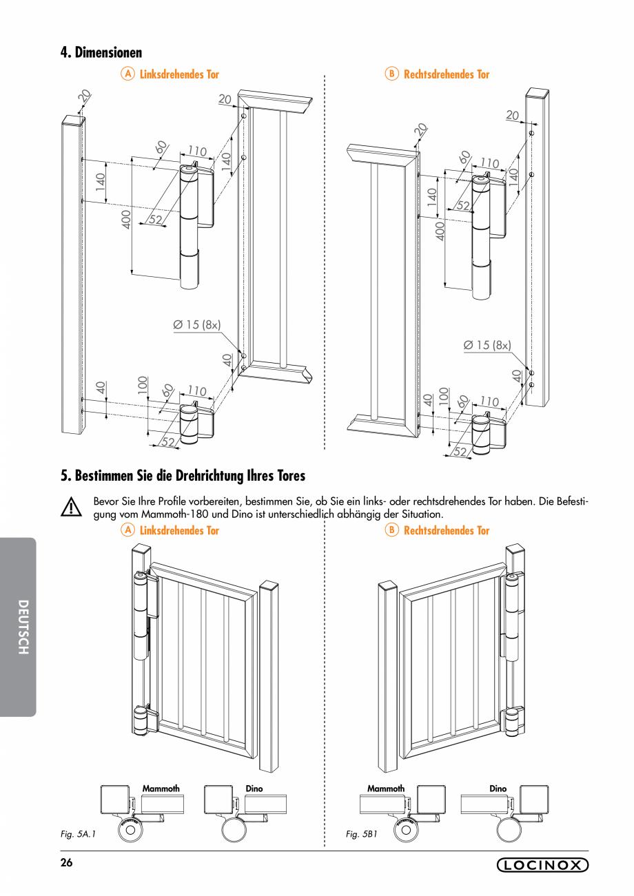 Pagina 26 - Balama pentru porti pietonale - MAMMOTH 180 LOCINOX Instructiuni montaj, utilizare...