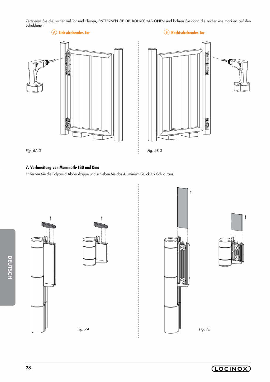 Pagina 28 - Balama pentru porti pietonale - MAMMOTH 180 LOCINOX Instructiuni montaj, utilizare...