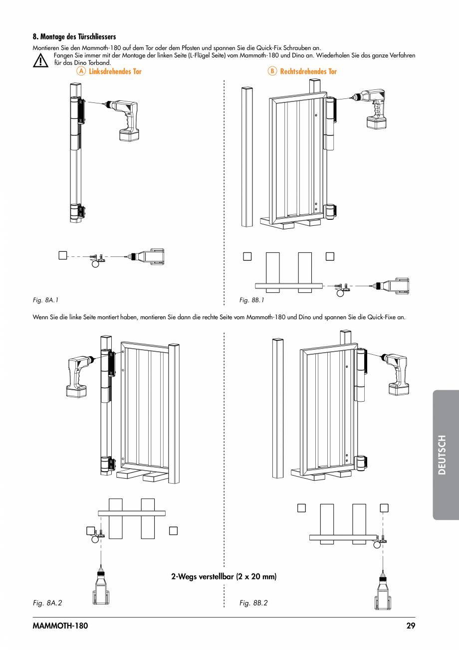 Pagina 29 - Balama pentru porti pietonale - MAMMOTH 180 LOCINOX Instructiuni montaj, utilizare...