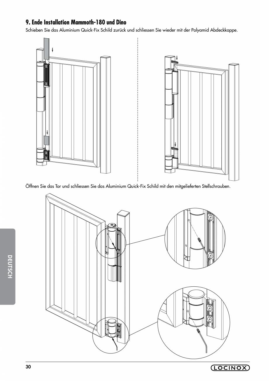 Pagina 30 - Balama pentru porti pietonale - MAMMOTH 180 LOCINOX Instructiuni montaj, utilizare...