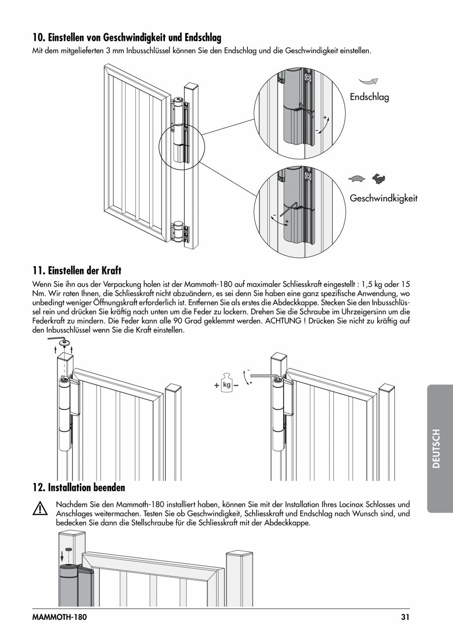 Pagina 31 - Balama pentru porti pietonale - MAMMOTH 180 LOCINOX Instructiuni montaj, utilizare...