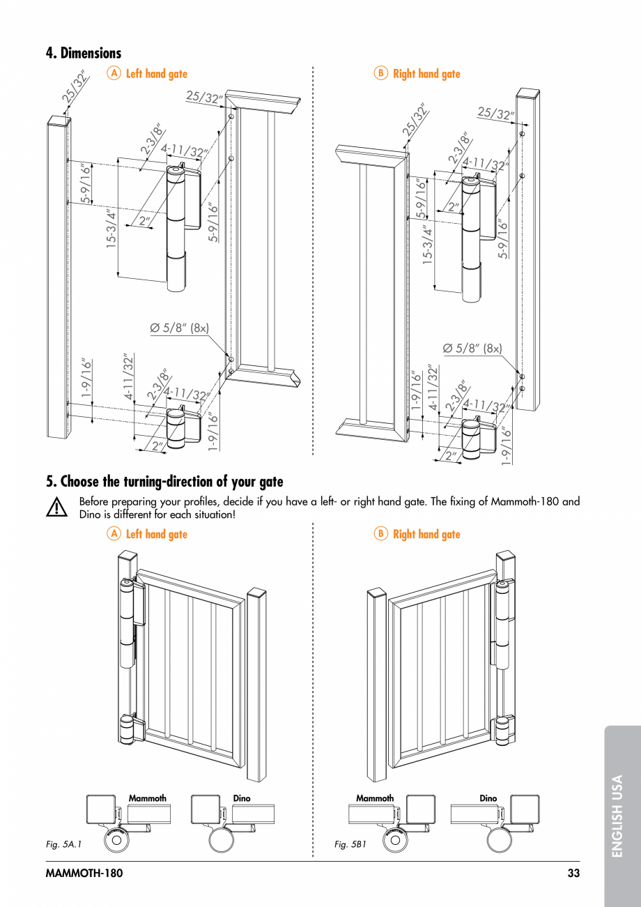 Pagina 33 - Balama pentru porti pietonale - MAMMOTH 180 LOCINOX Instructiuni montaj, utilizare...