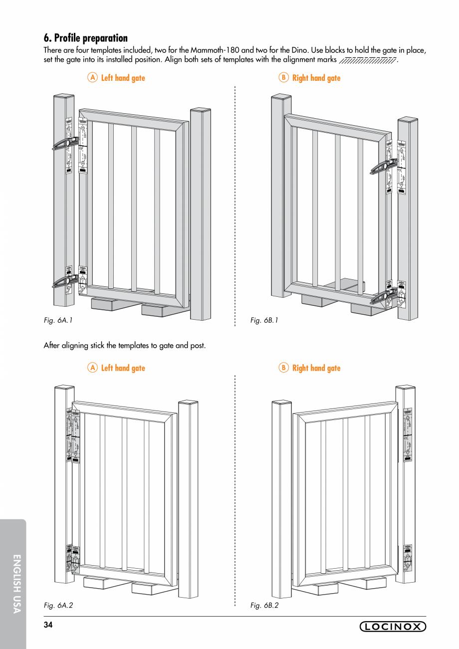 Pagina 34 - Balama pentru porti pietonale - MAMMOTH 180 LOCINOX Instructiuni montaj, utilizare...