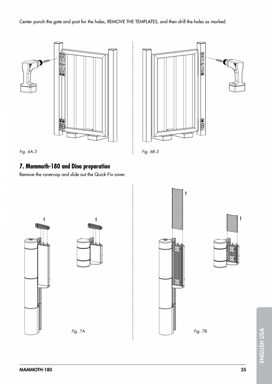 Pagina 35 - Balama pentru porti pietonale - MAMMOTH 180 LOCINOX Instructiuni montaj, utilizare...