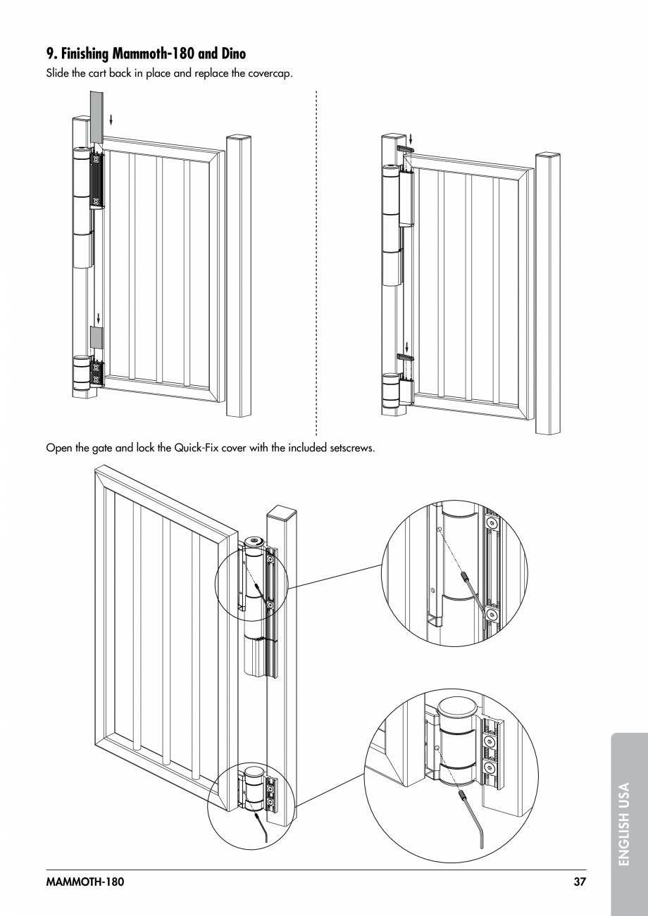 Pagina 37 - Balama pentru porti pietonale - MAMMOTH 180 LOCINOX Instructiuni montaj, utilizare...