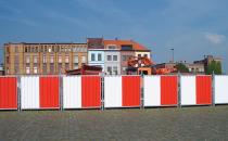 Garduri mobile / imprejmuiri temporare pentru organizare de santier HERAS ofera sisteme de garduri mobile pentru delimitare cladiri si organizare de santiere, monumente istorice in procesul de restaurare.