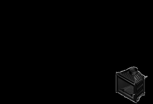 Schiță dimensiuni Focar de semineu - A100