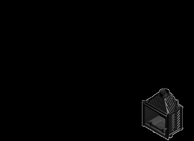 Schiță dimensiuni Focar de semineu - A250