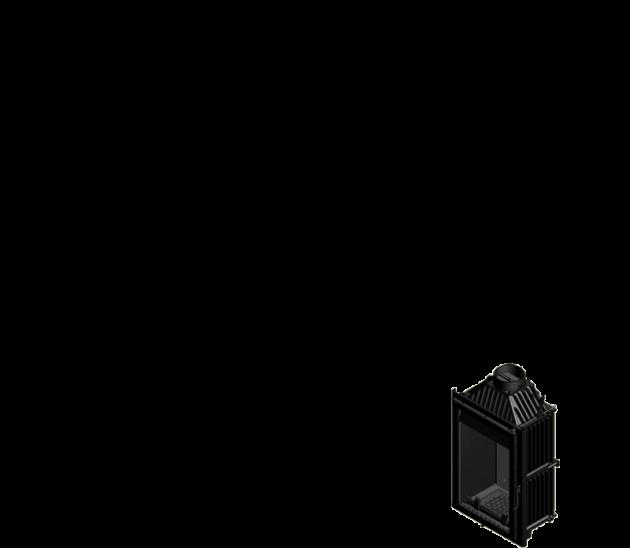 Schiță dimensiuni Focar de semineu - M150