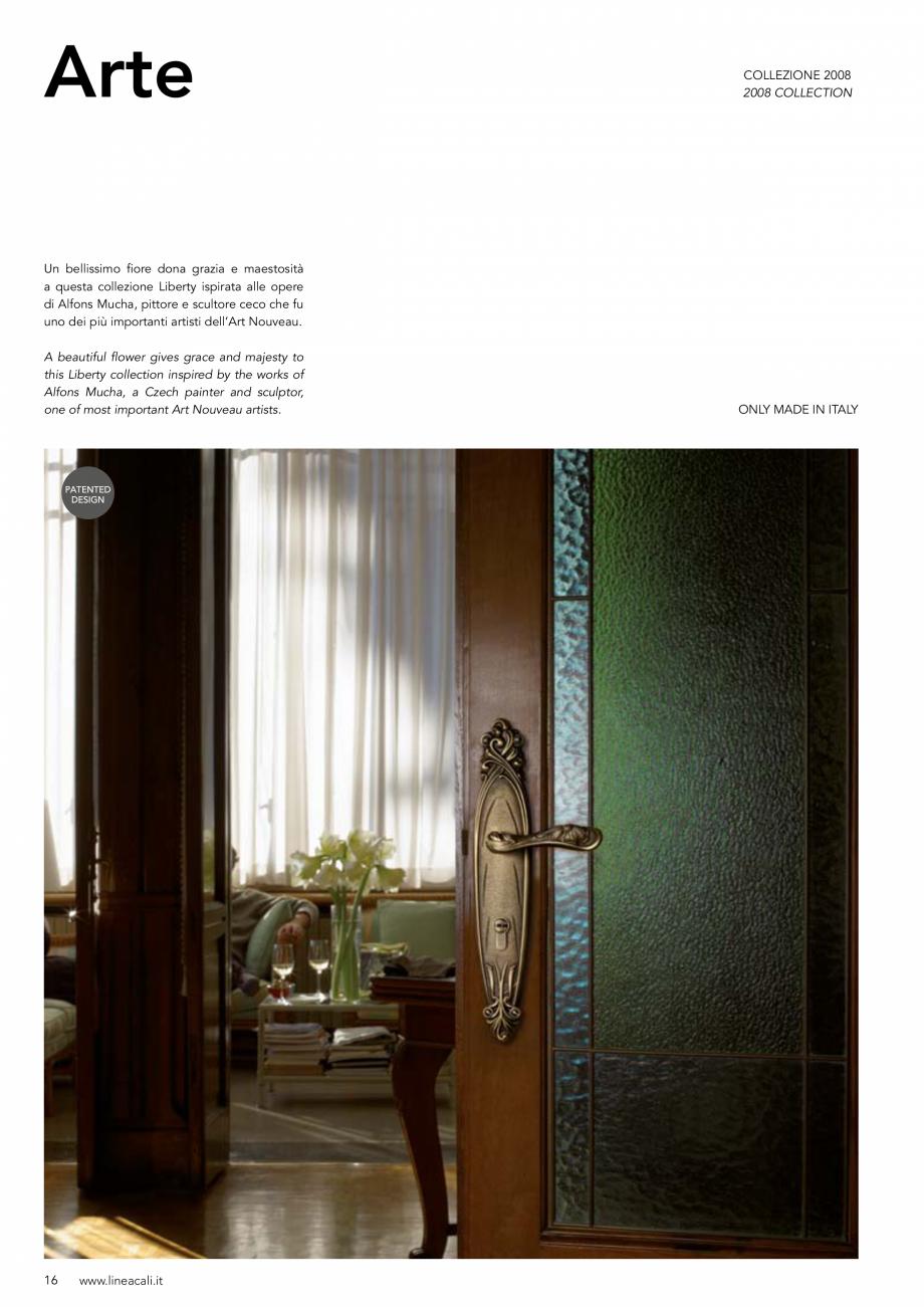Pagina 17 - Manere vintage pentru usi LINEA CALI ARTE, DAISY, EPOCA, LIBERTY, NATURE, OPERA, OPERA...