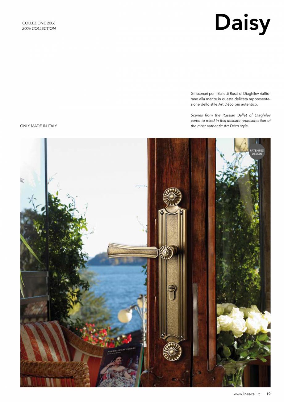 Pagina 20 - Manere vintage pentru usi LINEA CALI ARTE, DAISY, EPOCA, LIBERTY, NATURE, OPERA, OPERA...