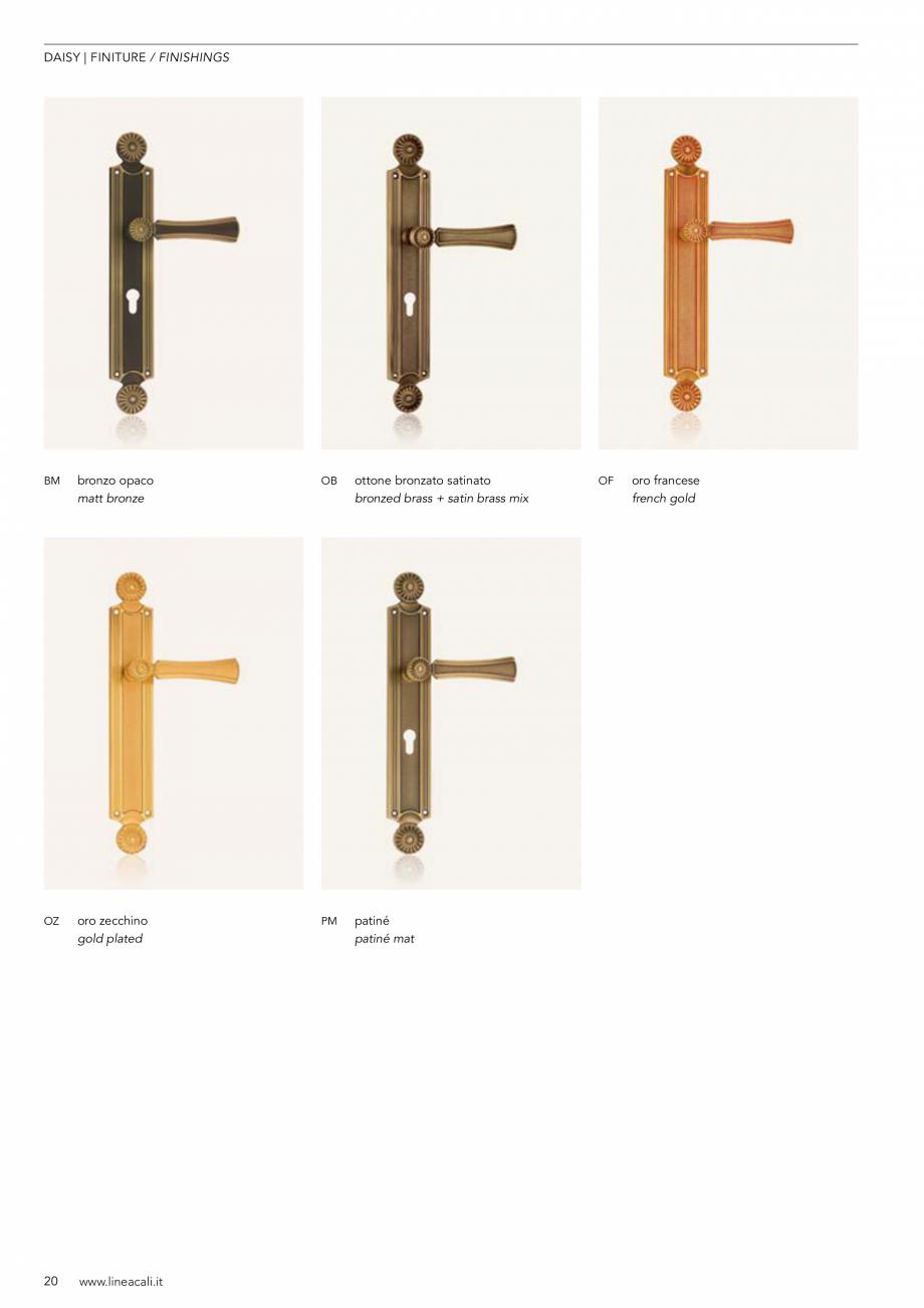 Pagina 21 - Manere vintage pentru usi LINEA CALI ARTE, DAISY, EPOCA, LIBERTY, NATURE, OPERA, OPERA...