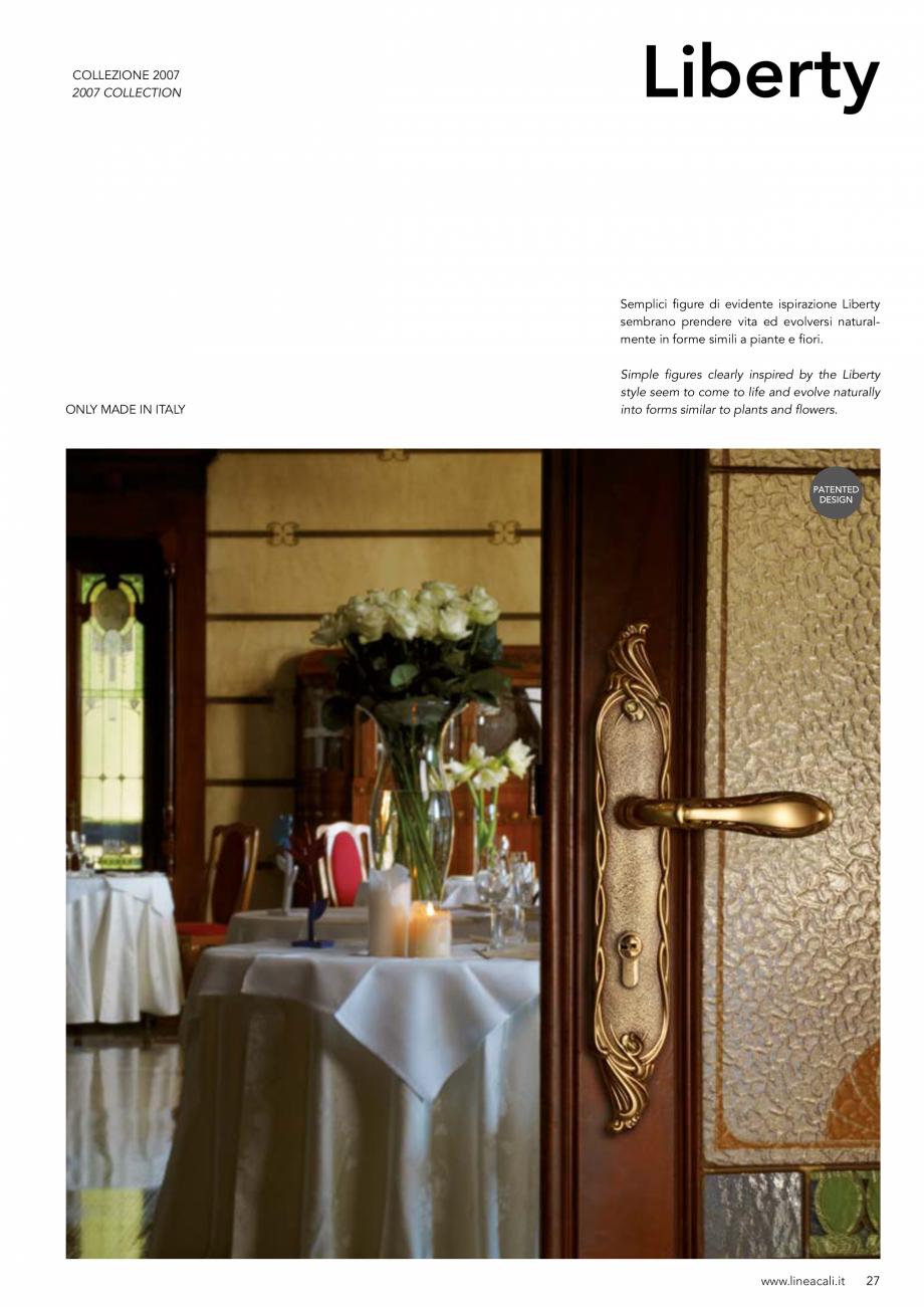 Pagina 28 - Manere vintage pentru usi LINEA CALI ARTE, DAISY, EPOCA, LIBERTY, NATURE, OPERA, OPERA...