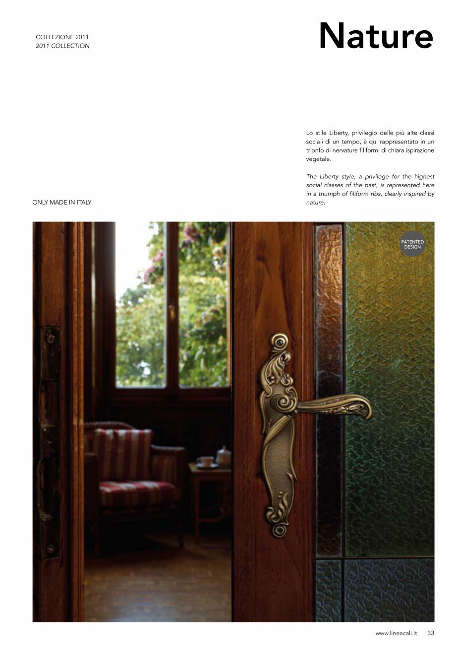 Pagina 34 - Manere vintage pentru usi LINEA CALI ARTE, DAISY, EPOCA, LIBERTY, NATURE, OPERA, OPERA...