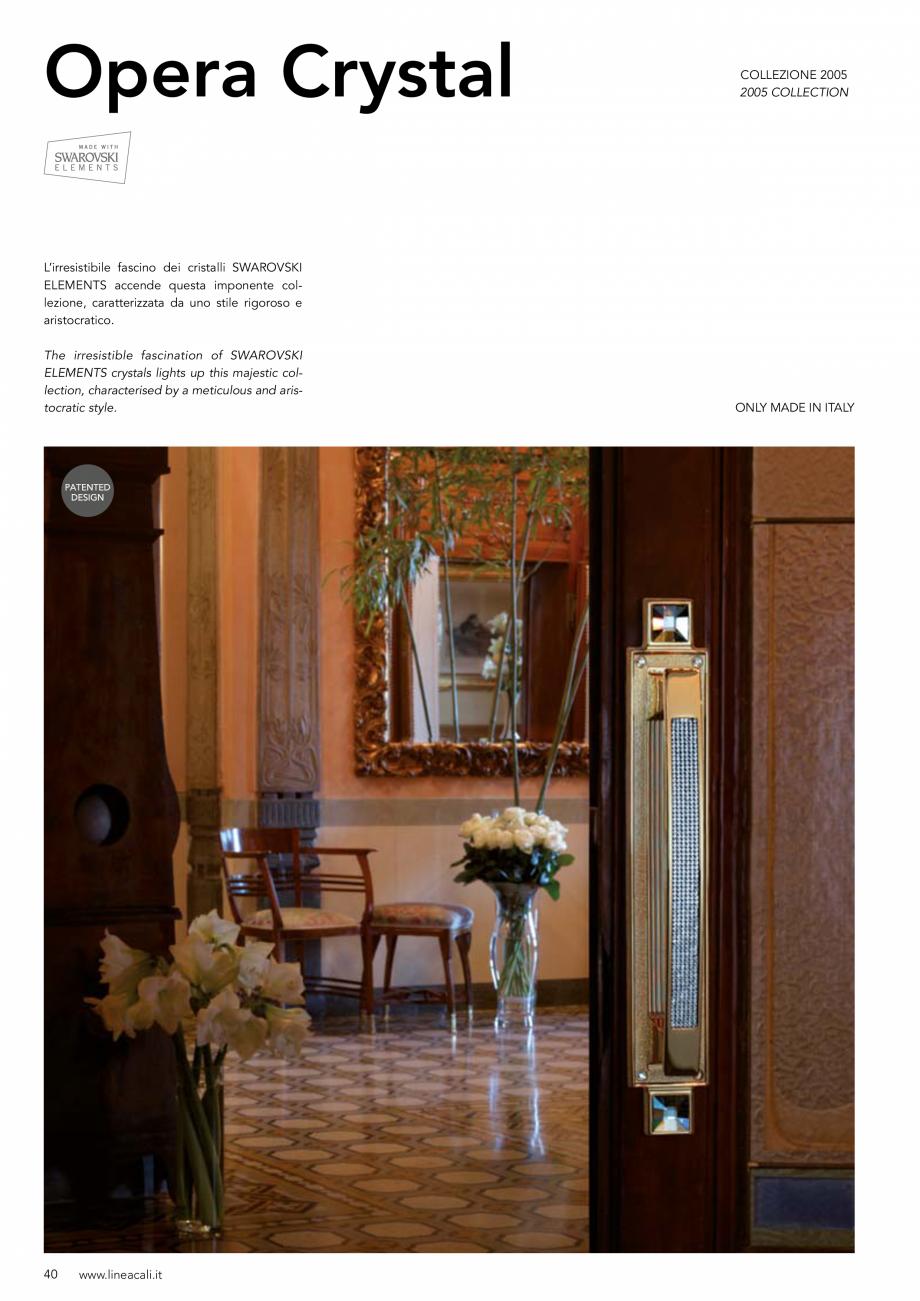 Pagina 41 - Manere vintage pentru usi LINEA CALI ARTE, DAISY, EPOCA, LIBERTY, NATURE, OPERA, OPERA...