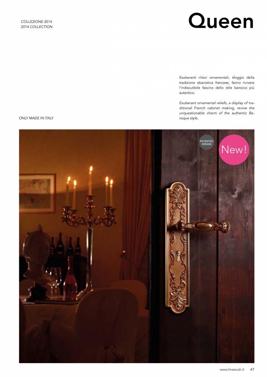 Pagina 48 - Manere vintage pentru usi LINEA CALI ARTE, DAISY, EPOCA, LIBERTY, NATURE, OPERA, OPERA...