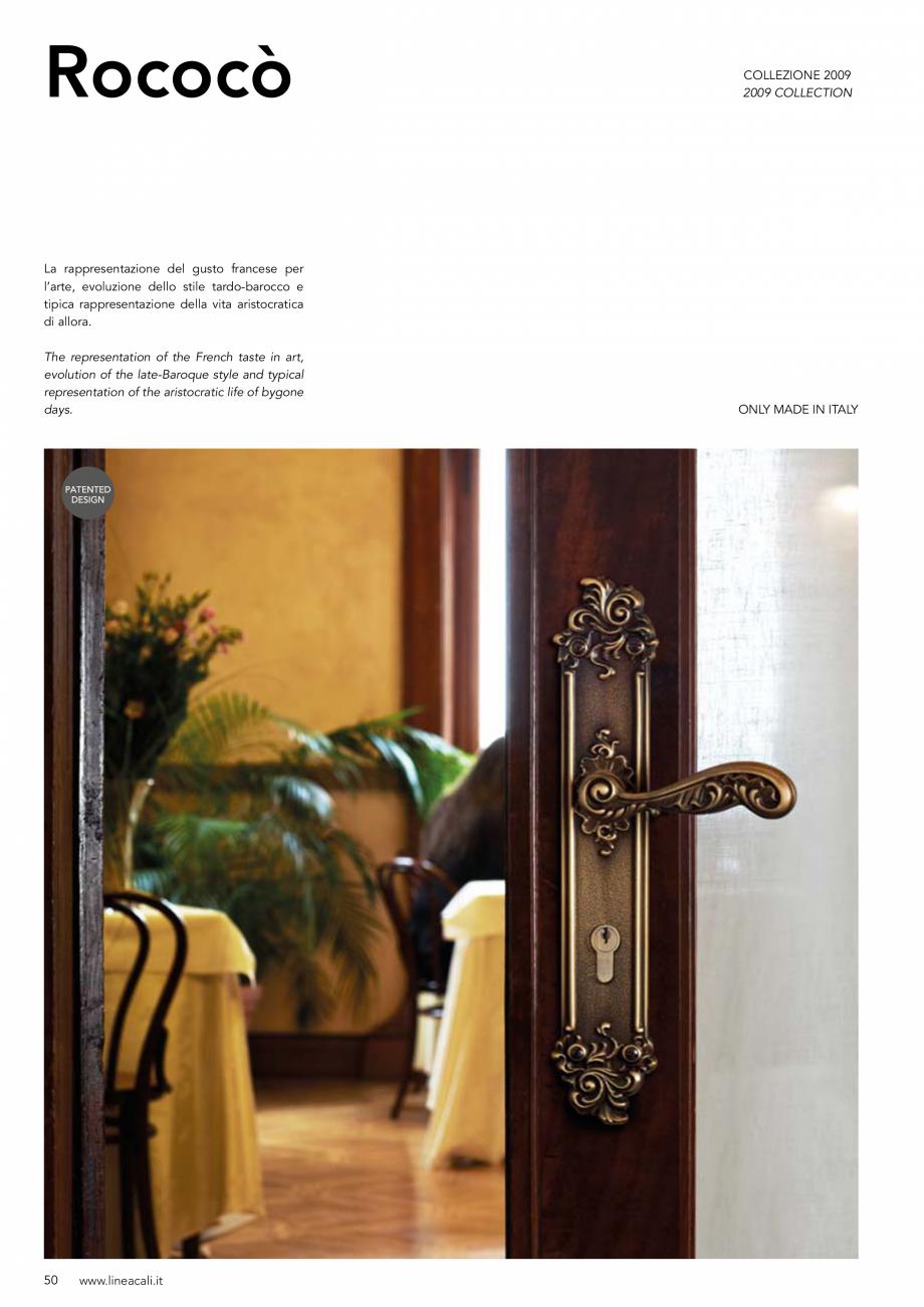Pagina 51 - Manere vintage pentru usi LINEA CALI ARTE, DAISY, EPOCA, LIBERTY, NATURE, OPERA, OPERA...