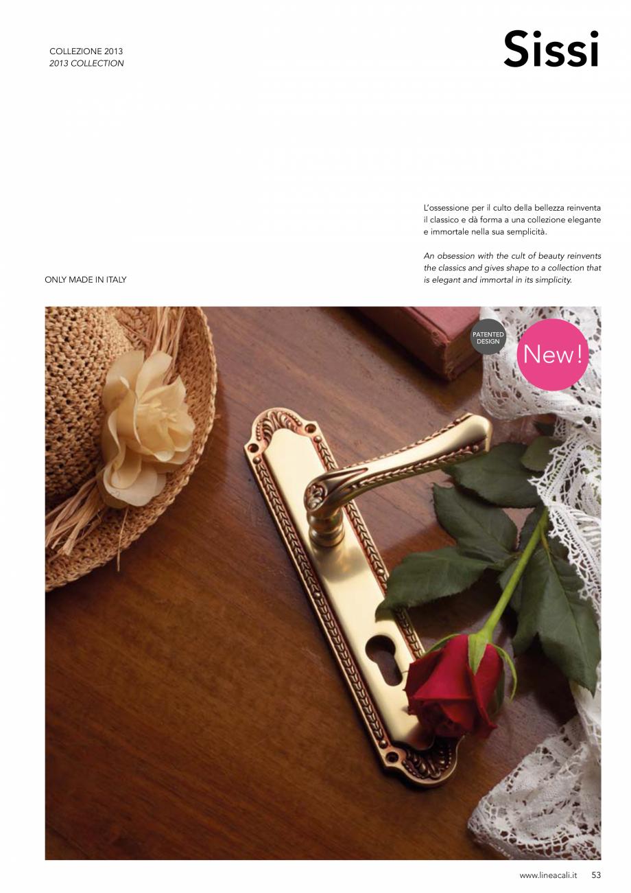 Pagina 54 - Manere vintage pentru usi LINEA CALI ARTE, DAISY, EPOCA, LIBERTY, NATURE, OPERA, OPERA...