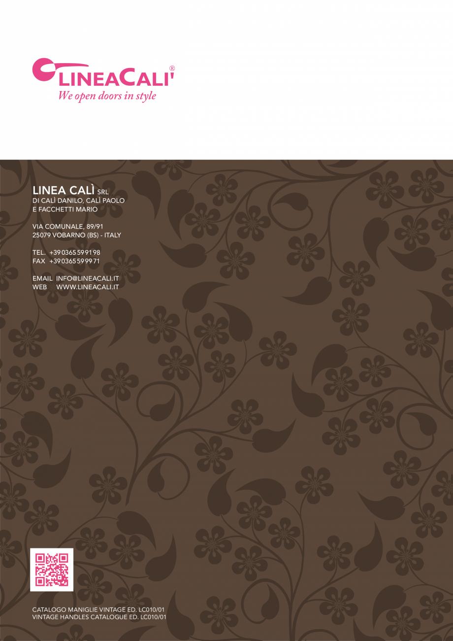 Pagina 90 - Manere vintage pentru usi LINEA CALI ARTE, DAISY, EPOCA, LIBERTY, NATURE, OPERA, OPERA...
