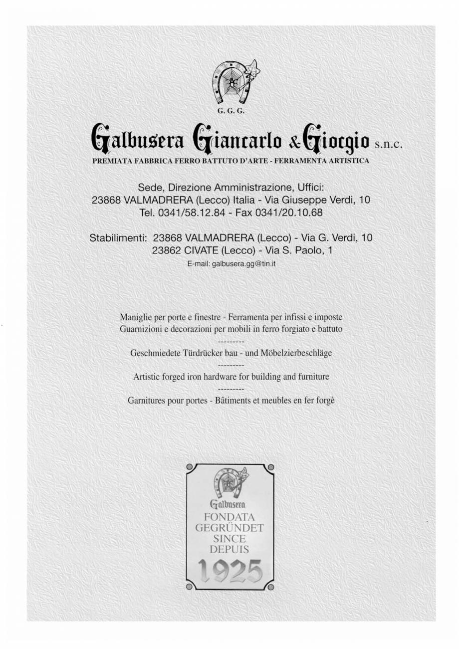 Pagina 2 - Manere si silduri din fier forjat pentru usi si ferestre GALBUSERA BAROC, BASEL, BERLIN, ...
