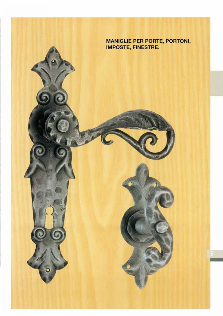 Pagina 7 - Manere si silduri din fier forjat pentru usi si ferestre GALBUSERA BAROC, BASEL, BERLIN, ...