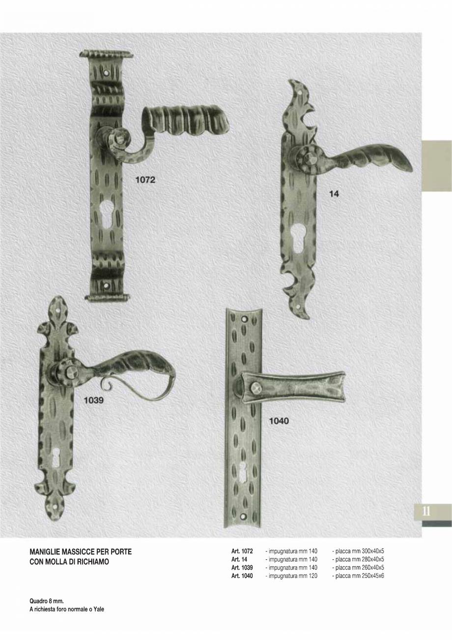 Pagina 13 - Manere si silduri din fier forjat pentru usi si ferestre GALBUSERA BAROC, BASEL, BERLIN,...