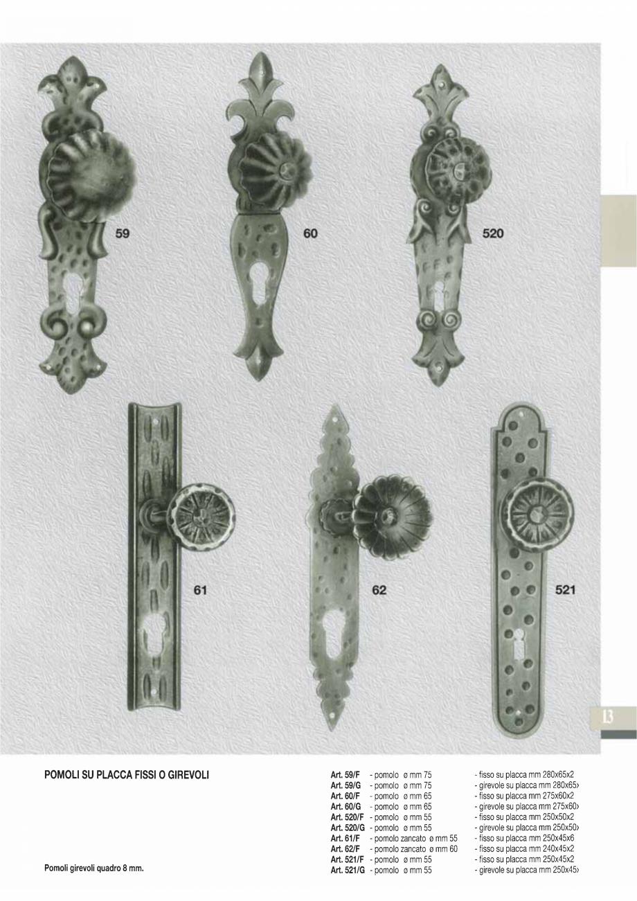Pagina 15 - Manere si silduri din fier forjat pentru usi si ferestre GALBUSERA BAROC, BASEL, BERLIN,...