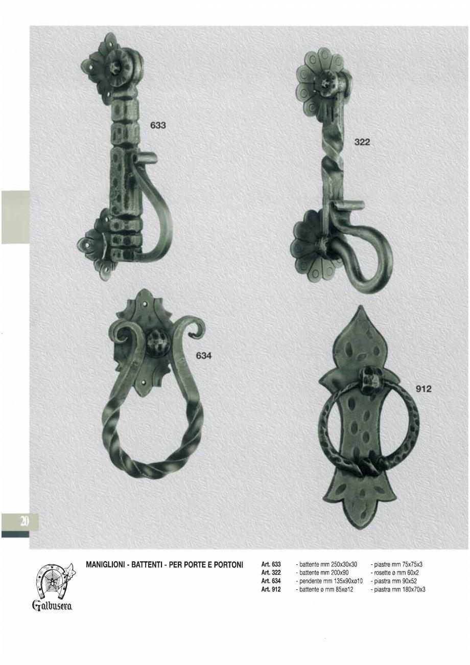 Pagina 22 - Manere si silduri din fier forjat pentru usi si ferestre GALBUSERA BAROC, BASEL, BERLIN,...