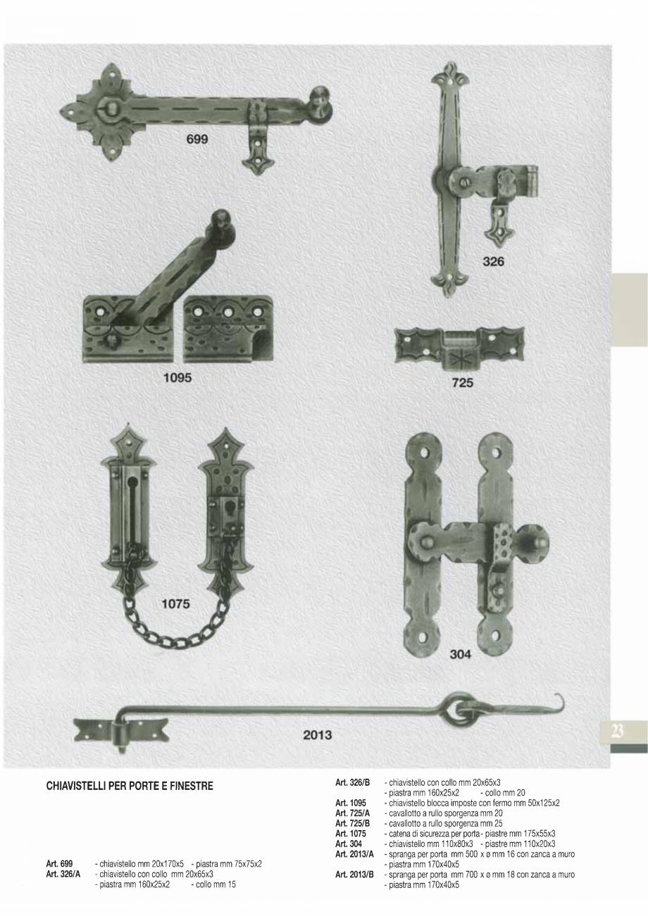 Pagina 25 - Manere si silduri din fier forjat pentru usi si ferestre GALBUSERA BAROC, BASEL, BERLIN,...