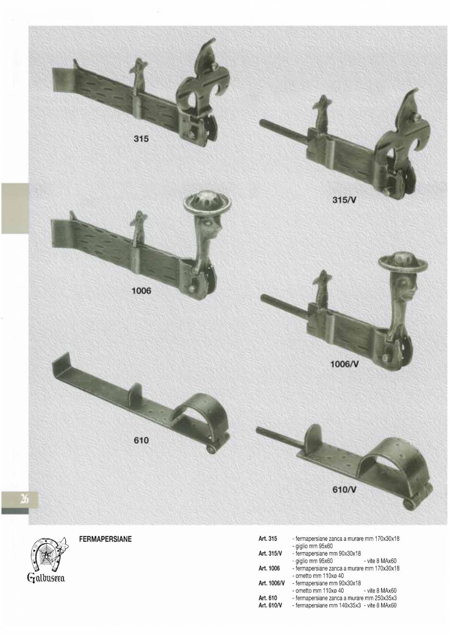 Pagina 28 - Manere si silduri din fier forjat pentru usi si ferestre GALBUSERA BAROC, BASEL, BERLIN,...