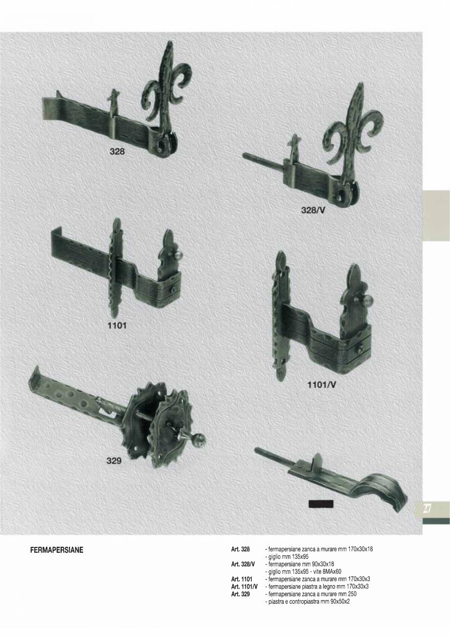 Pagina 29 - Manere si silduri din fier forjat pentru usi si ferestre GALBUSERA BAROC, BASEL, BERLIN,...
