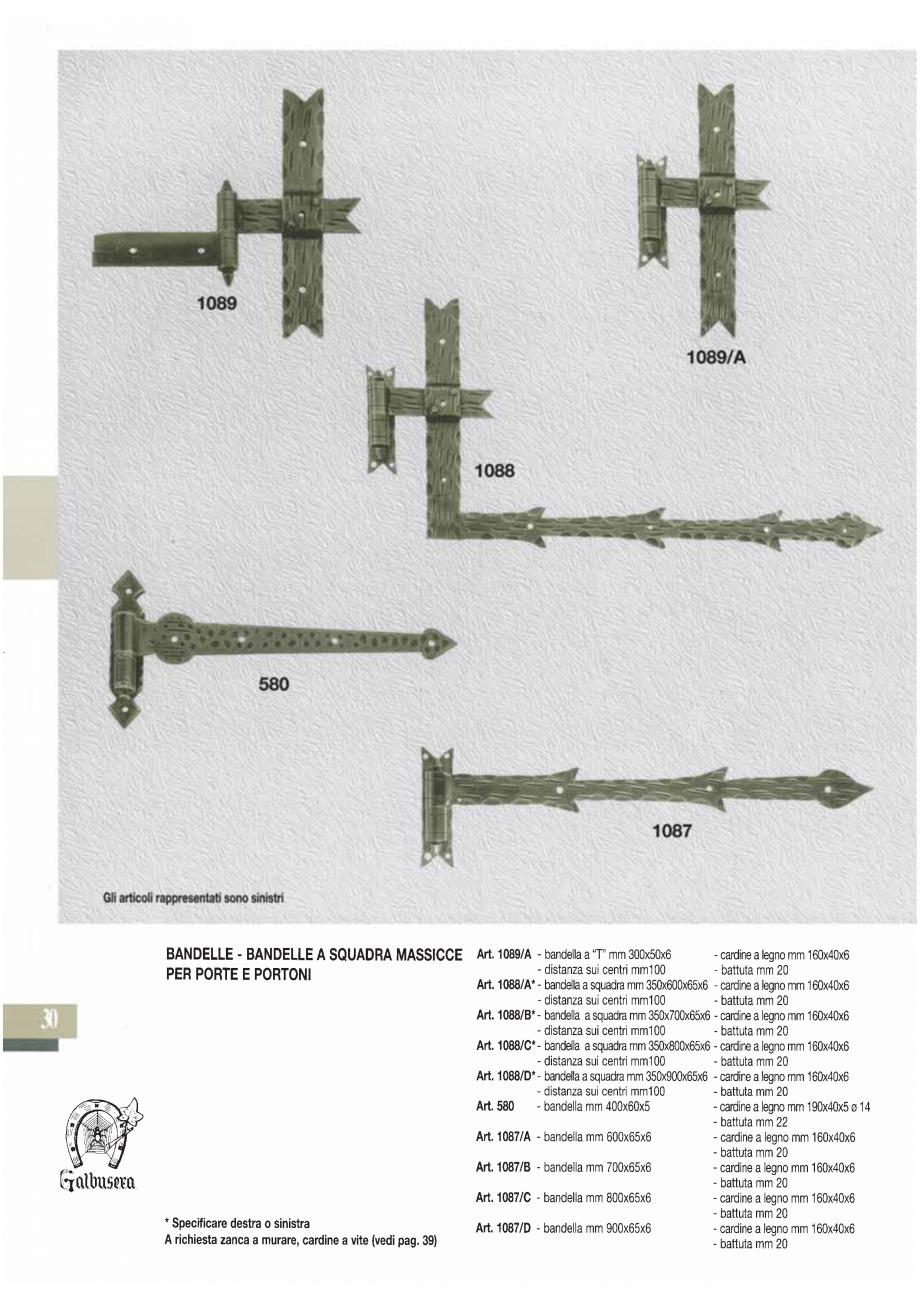 Pagina 32 - Manere si silduri din fier forjat pentru usi si ferestre GALBUSERA BAROC, BASEL, BERLIN,...