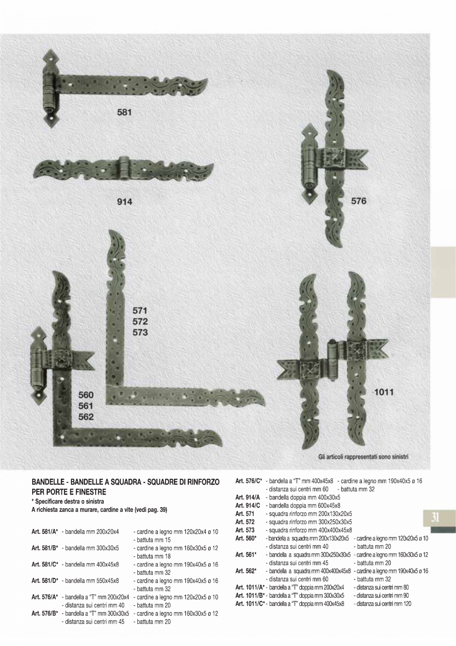 Pagina 33 - Manere si silduri din fier forjat pentru usi si ferestre GALBUSERA BAROC, BASEL, BERLIN,...