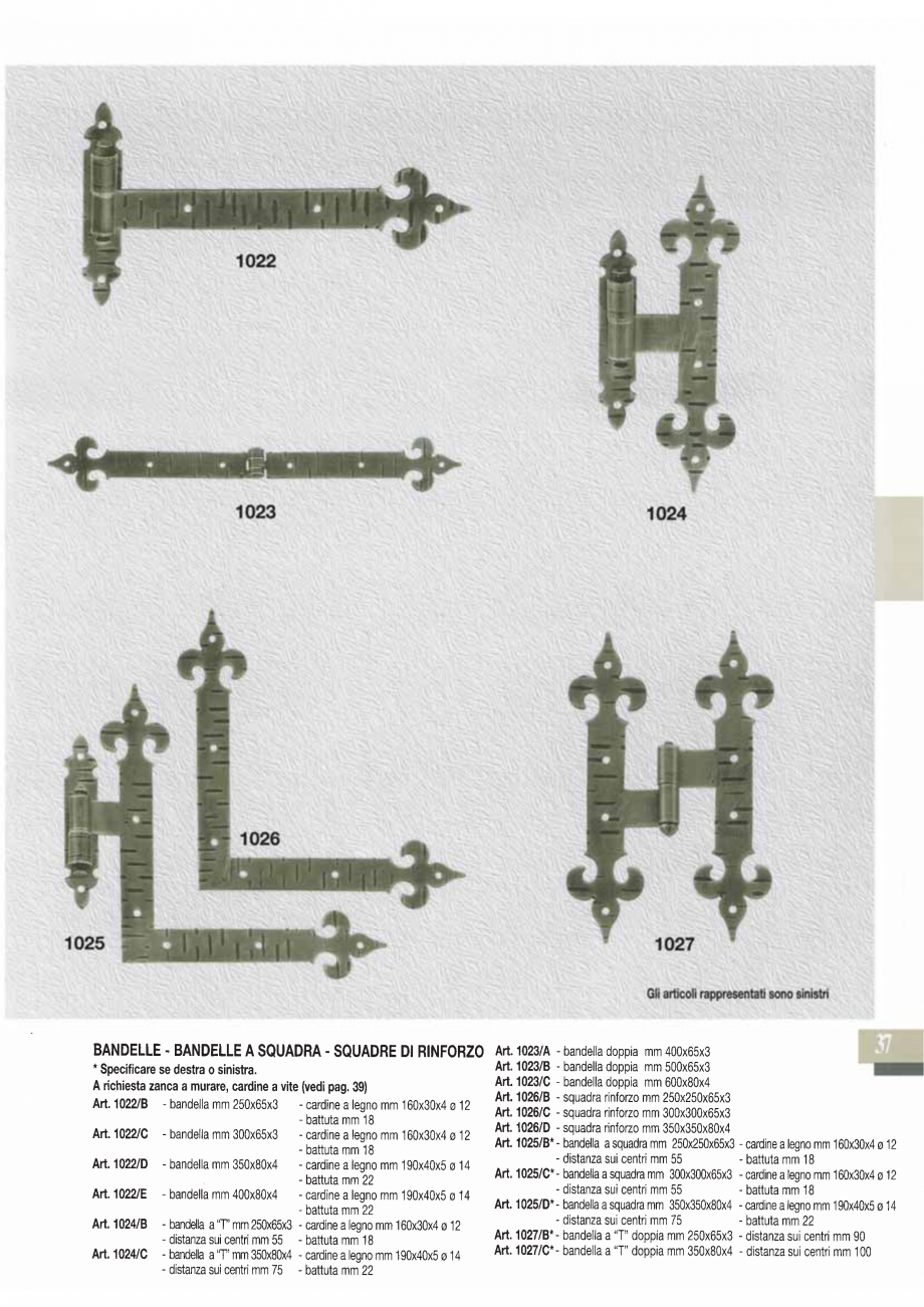 Pagina 39 - Manere si silduri din fier forjat pentru usi si ferestre GALBUSERA BAROC, BASEL, BERLIN,...