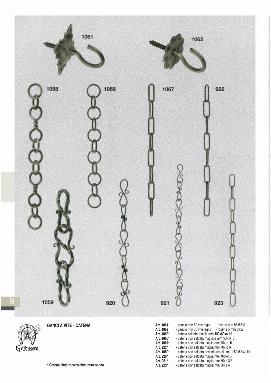 Pagina 55 - Manere si silduri din fier forjat pentru usi si ferestre GALBUSERA BAROC, BASEL, BERLIN,...