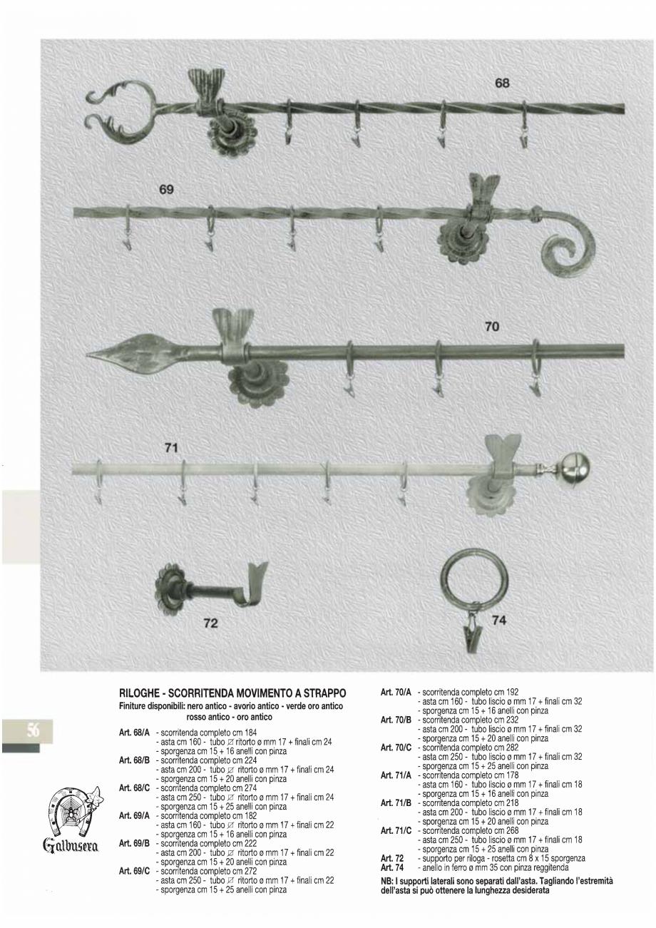Pagina 57 - Manere si silduri din fier forjat pentru usi si ferestre GALBUSERA BAROC, BASEL, BERLIN,...