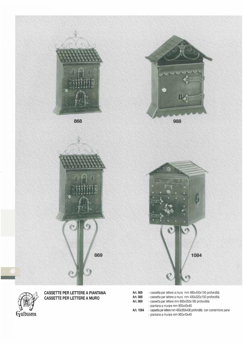 Pagina 61 - Manere si silduri din fier forjat pentru usi si ferestre GALBUSERA BAROC, BASEL, BERLIN,...