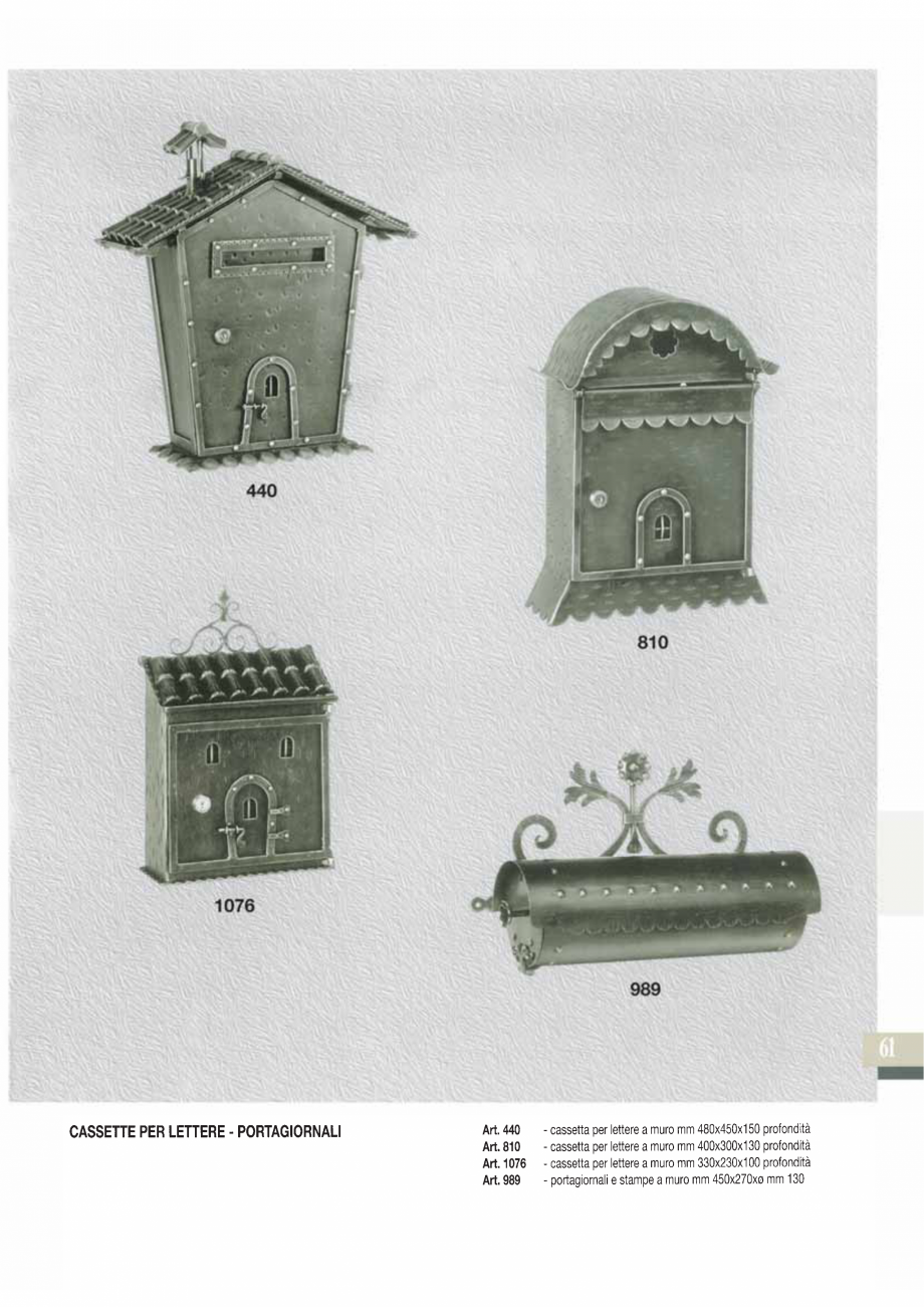 Pagina 62 - Manere si silduri din fier forjat pentru usi si ferestre GALBUSERA BAROC, BASEL, BERLIN,...