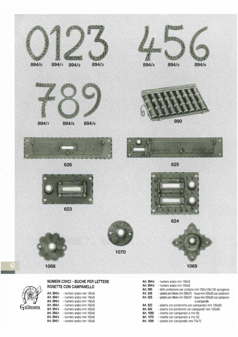 Pagina 63 - Manere si silduri din fier forjat pentru usi si ferestre GALBUSERA BAROC, BASEL, BERLIN,...