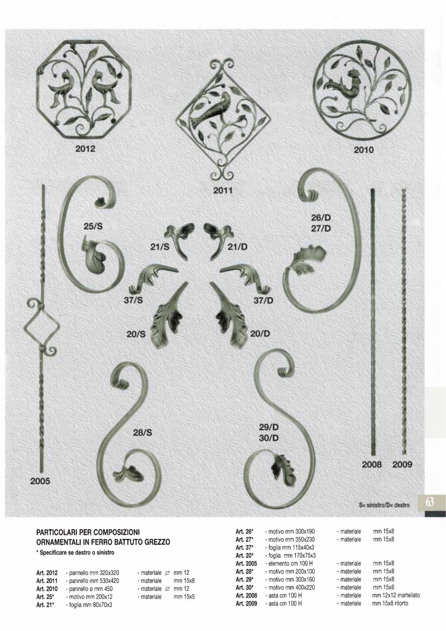 Pagina 64 - Manere si silduri din fier forjat pentru usi si ferestre GALBUSERA BAROC, BASEL, BERLIN,...