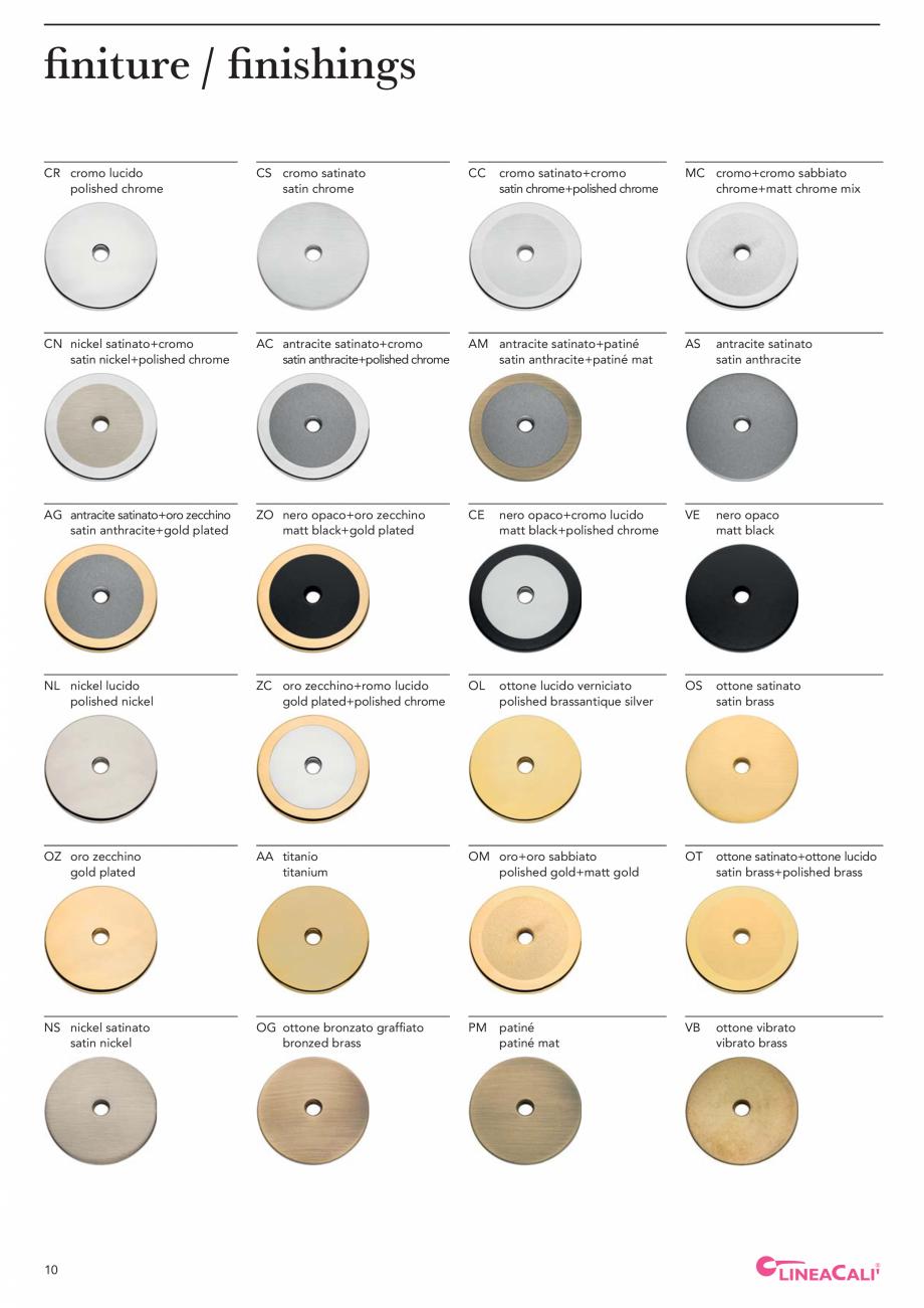 Pagina 12 - Catalog Linea CALI 2019 DALI BUSINESS Catalog, brosura Engleza, Italiana taly.  More...