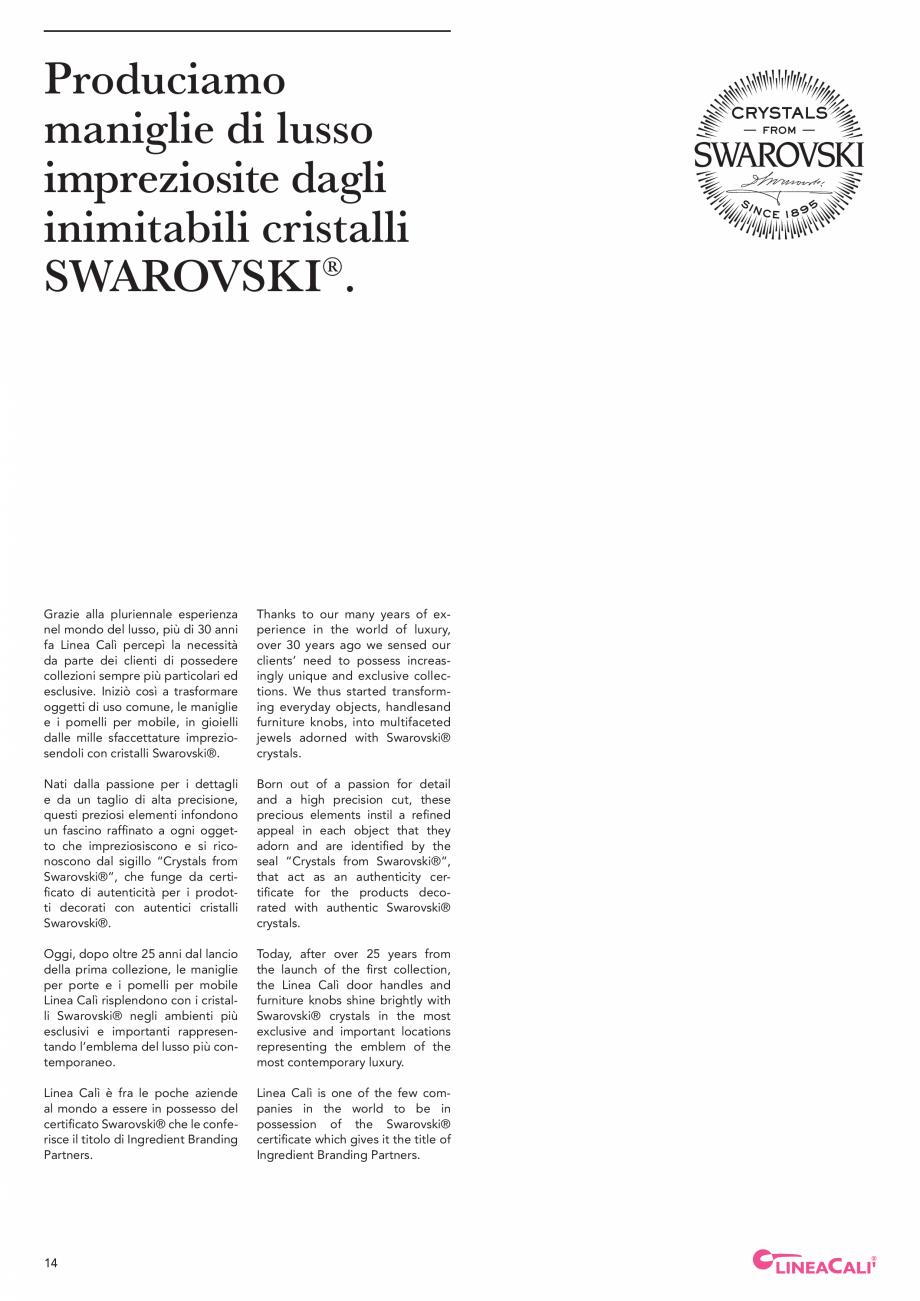 Pagina 16 - Catalog Linea CALI 2019 DALI BUSINESS Catalog, brosura Engleza, Italiana trovate tutte...